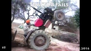 Compilation Tractors Crash Fail January 2016 NEW THE BEST Terrible #5
