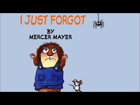 I Just Forgot By Mercer Mayer - Little Critter - Read Aloud Books For Children - Storytime
