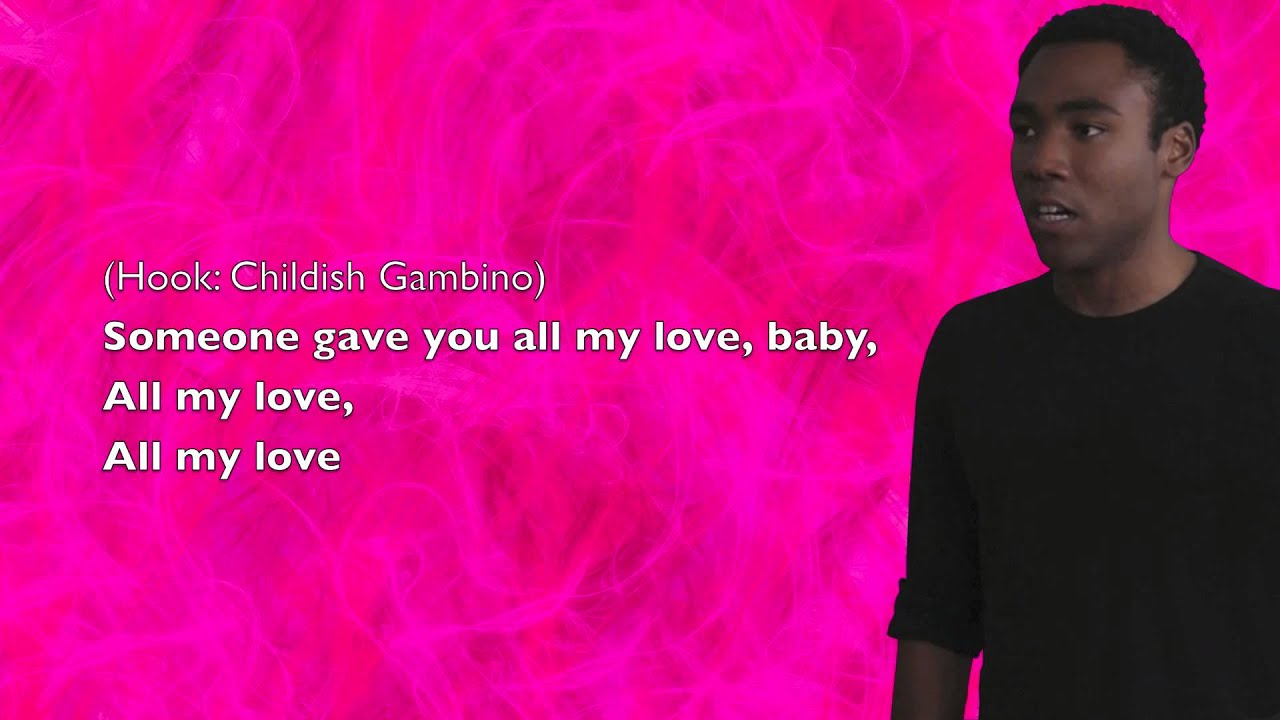 childish gambino lyrics - HD 1920×1080