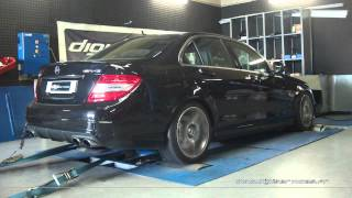 * Reprogrammation Moteur * Mercedes C63 AMG 457cv @ 482cv Dyno Digiservices Paris