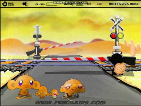 Прохождение игры Счастливая обезьянка 4. Уровень 1.