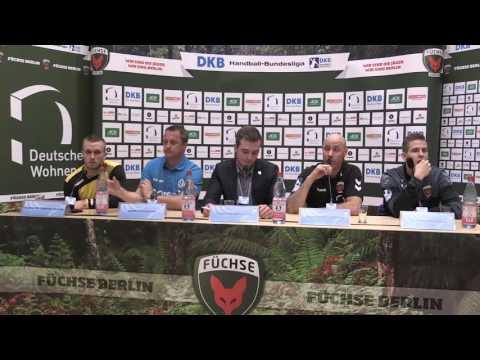 Pressekonferenz Füchse Berlin vs. RK Gorenje Velenje
