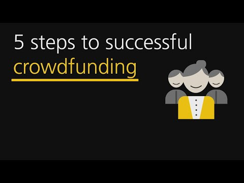 Five steps to successful crowdfunding