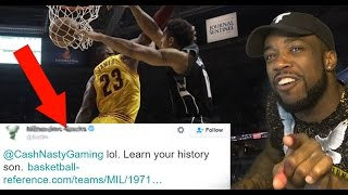 NBA Team Called Me Out On Twitter For Lebron James Getting Dunked On!