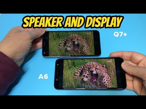 LG Q7 Plus Vs Samsung A6 Speaker/Display Test Review (Metro PCS by T-mobile)