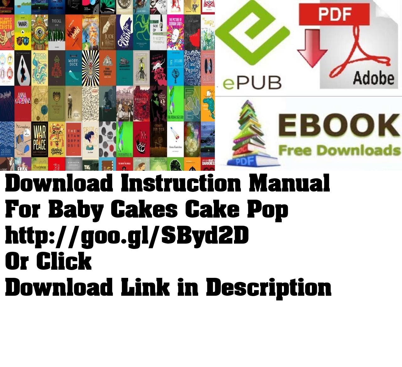 instruction manual for baby cakes cake pop youtube rh youtube com babycakes instruction manual Wildgame Innovations Manuals