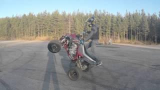 Yamaha Raptor 700 Wheelie Practice