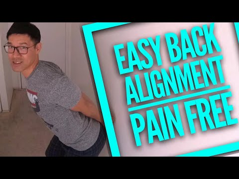 How to Realign Your Back Spine Body Without a Chiropractor Cracking Spine Back Joints