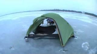 Spaß auf dem Mueggel-Eis // Fun on Ice of Lake Müggel // 180, camping on ice