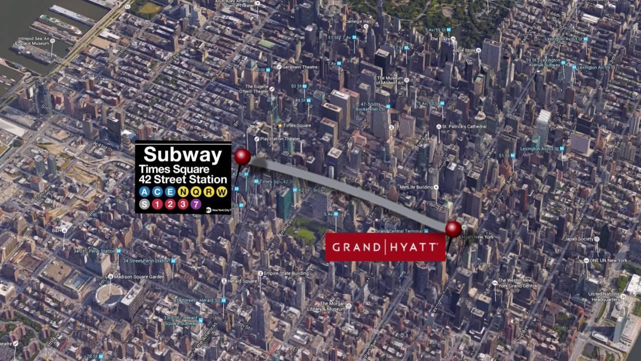 Grand hyatt new york journey to times square youtube - Grand tapis new york ...