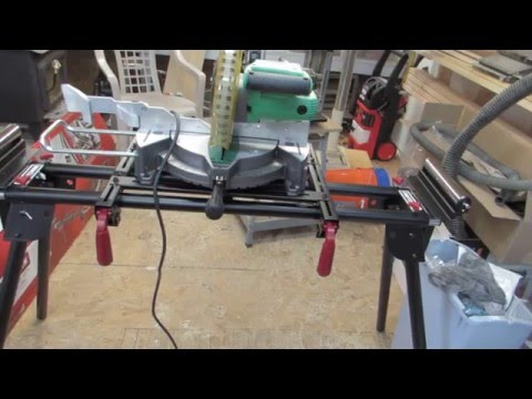 craftsman miter saw stand unboxing and assembly