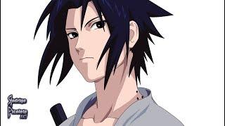 Drawing Sasuke in Illustrator