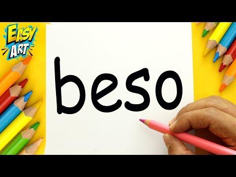 SUPER TRUCO Como Transformar La Palabra BESO en un Dibujo - Dibujos Faciles - Easy Art