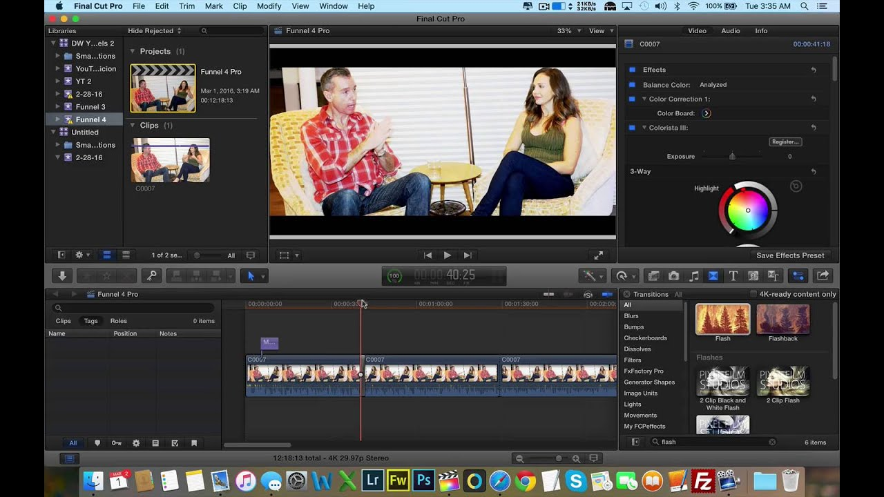 Final Cut Pro X Tutorial - Fixing Letterbox Box Issue When Using ...