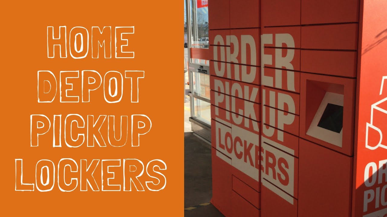 Home Depot Pickup Lockers What Are They How Do You Use It Youtube