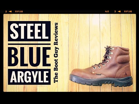 STEEL BLUE Argyle/Side zip-steel toe [ The Boot Guy reviews ]