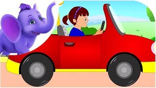 Driving in My Car - Road Version Nursery Rhyme & Karaoke