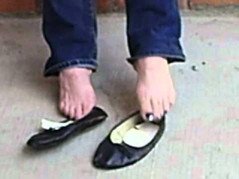 Ballerina slipper fetish