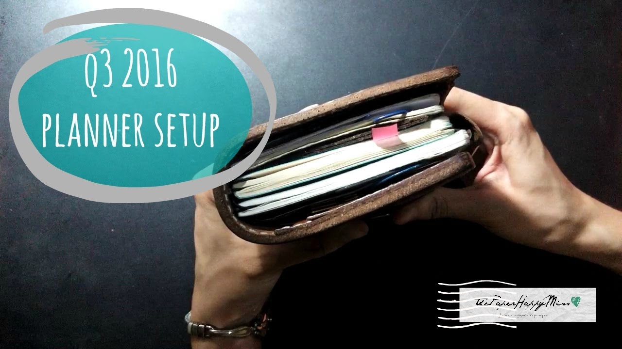 update q3 2016 pocket bullet journal flip thru pocket planning ii
