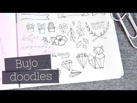 Bullet Journal Doodles   Lettering + Planner Accents