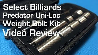 Predator Weight Bolt Kit Review by Select Billiards