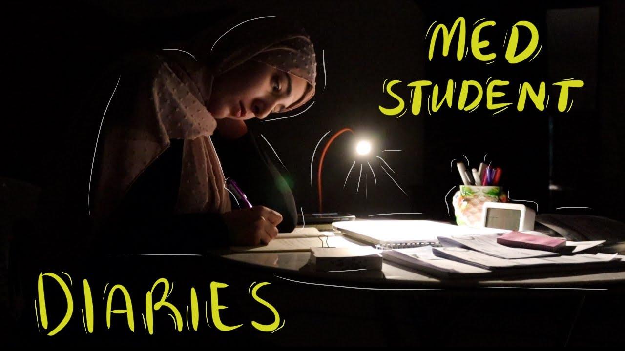 ☁️VLOG#13 | دراسة 12 ساعة بدون توقف! | فترة الامتحانات في كلية الطب