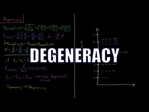 Quantum Chemistry 3.12 - Degeneracy