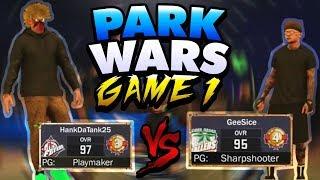 Video HANKDATANK25 Vs GEESICE! PARK WARZ GAME ONE! CRAZY INTENSE GAME ON NBA 2K17! download MP3, 3GP, MP4, WEBM, AVI, FLV Juli 2018