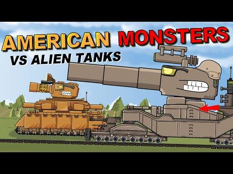 """American Monsters vs Alien Tanks"" Cartoons about tanks"