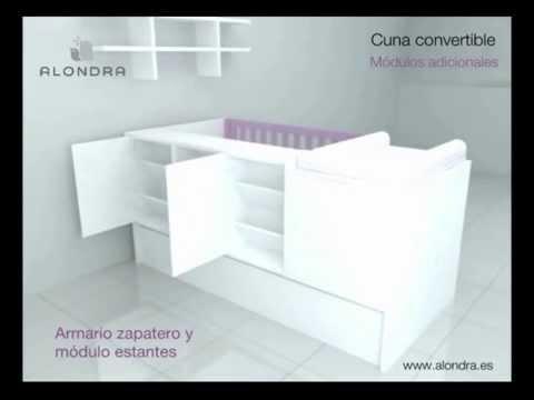 INNOVADORA CUNA CONVERTIBLE - ALONDRA (Refs. K401-K405-K406-K414)