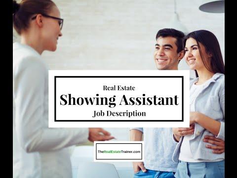 A Real Estate Showing Assistant's Job Description