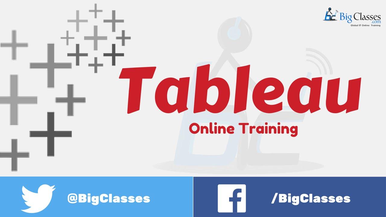 Tableau Online Training | Tableau Desktop and Server Training - bigclasses
