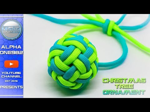 Amazing Christmas Ornaments How to make Paracord Double Globe Knot Tutorial DIY