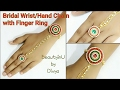 Bridal Wrist/Hand Chain With Finger Ring|How to make Designer Silk Thread Wrist Chain|DIY