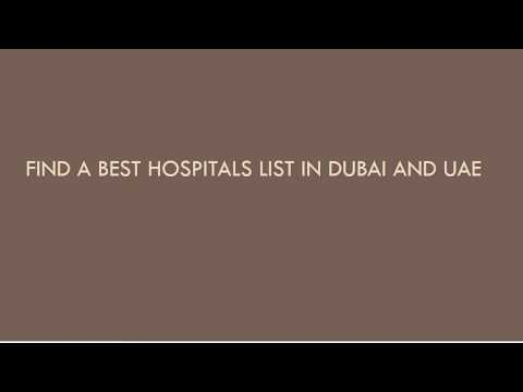 Find a best hospitals(clinics) list in Dubai and UAE