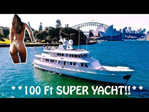 INSANE MILLION DOLLAR SUPER YACHT!!