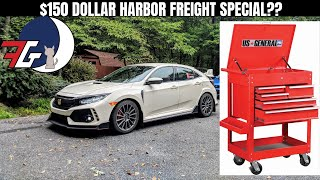 CHEAPEST TOOLBOX on the market   Building & Testing US General Tool Cart from Harbor Freight