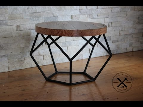 Steel Framed Industrial Pentagon Table