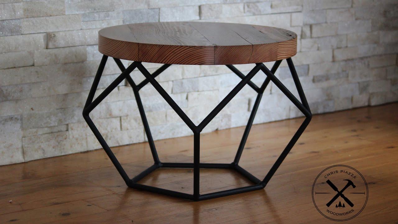 Gentil Steel Framed Industrial Pentagon Table