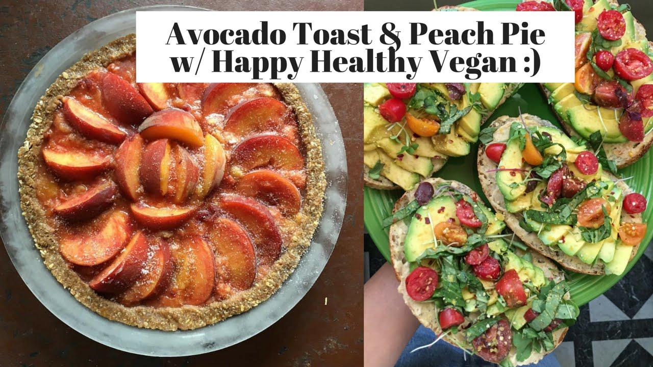Avocado Toast & Peach Pie w/ Happy Healthy Vegan | Mukbang Behind the Scenes
