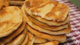 Жареные пирожки с мясом и картошкой.  Рецепт теста на кефире