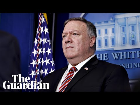 Coronavirus in the US: Mike Pompeo holds briefing at State Department – watch live