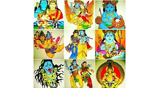 My beautiful painting collection of different god