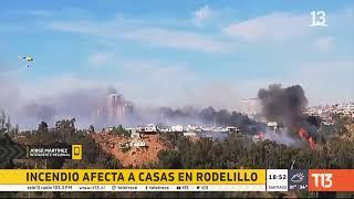 Incendios en Valparaíso: ordenan evacuación en Rodelillo