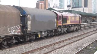 EWS 66044 at Cardiff Central. 17/4/2014