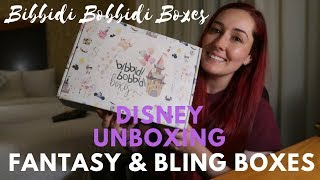 BIBBIDI BOBBIDI BOXES - UNBOXING (Fantasy & Bling) | Disney Monthly Subscription Box (AUGUST)