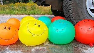 АВТОМОБИЛЬ против ШАРИКОВ С ВОДОЙ, АНАНАСА, ЙОГУРТА | EXPERIMENT: WATER BALLOONS VS CAR