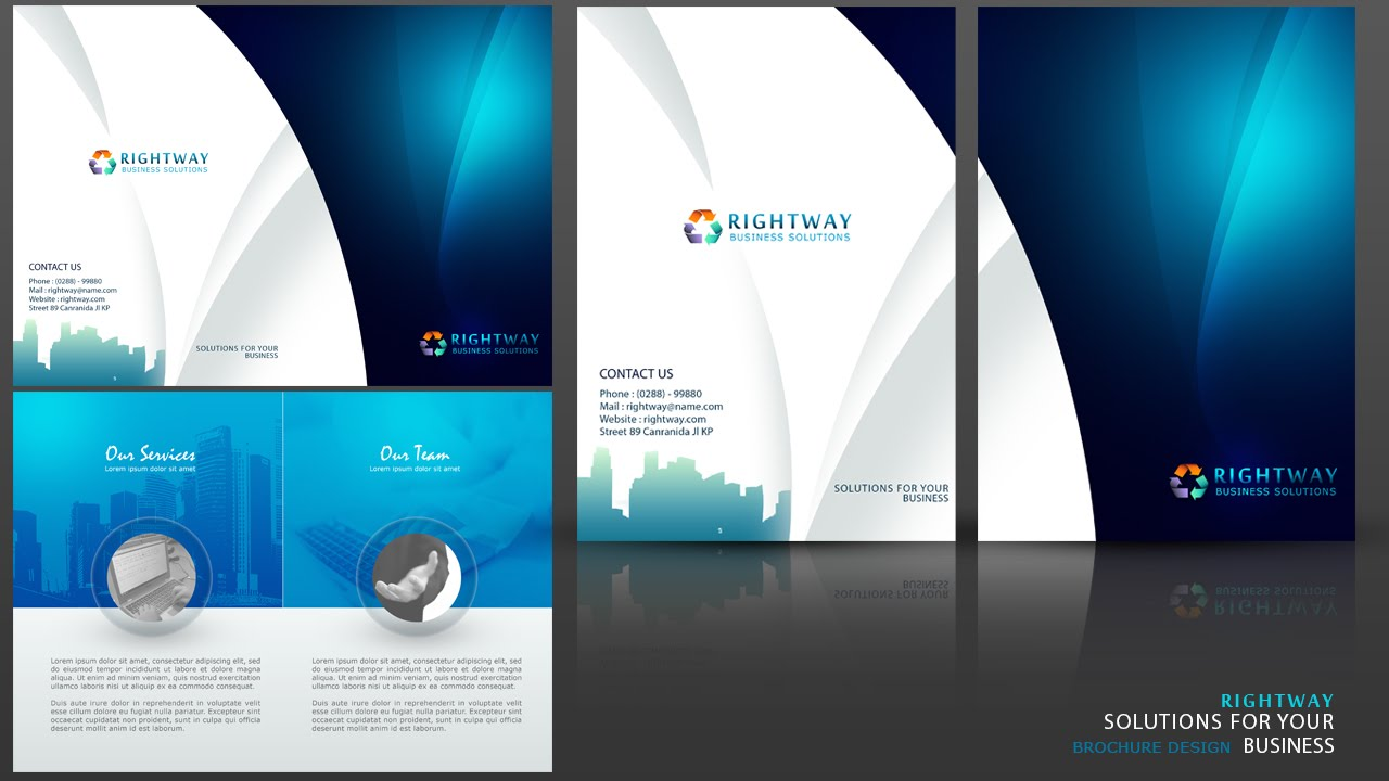 Create a business brochure photoshop tutorial youtube for How to design a brochure in photoshop