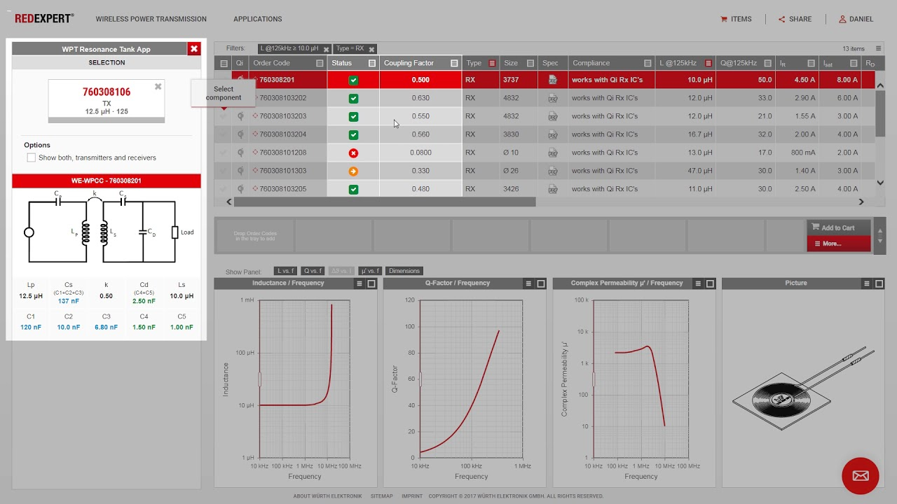 REDEXPERT design software for calculating AC core losses