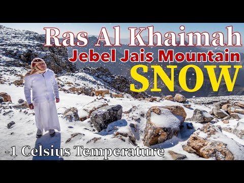 Ras Al Khaimah Jebel Jais Mountain Snow | -1 Celsius Tempera